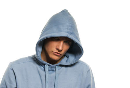 Handsome young man in a hood Stock Photo - 4182968