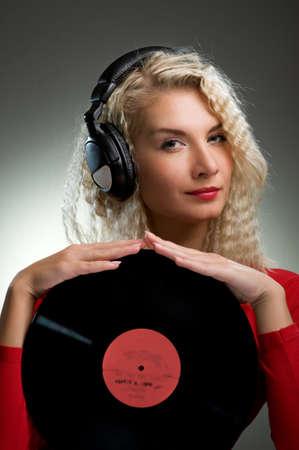 Beautiful female DJ Stock Photo - 4197815