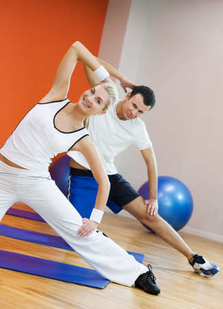 ball stretching: Fitness training