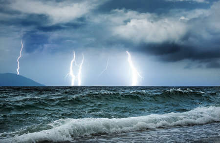 Ocean storm Stock Photo - 4211402