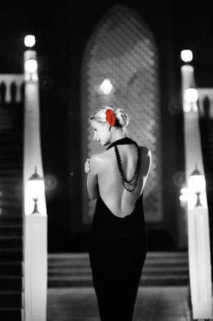 Monochrome picture of woman dancing flamenco Stock Photo - 4266589