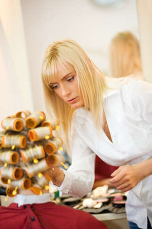 Female hairdresser working in beauty salon Stock Photo - 4478444
