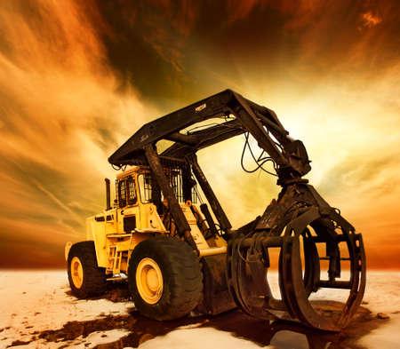 Modern tractor photo