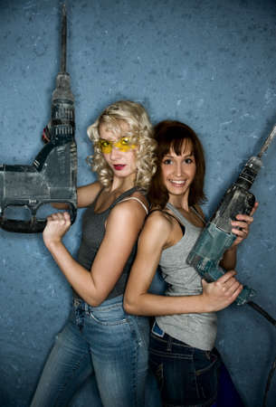 Two beautiful women with heavy perforators Stock Photo - 4501262