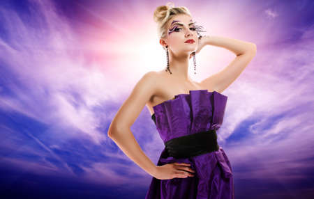 Beautiful woman glamour potrait Stock Photo - 4519772