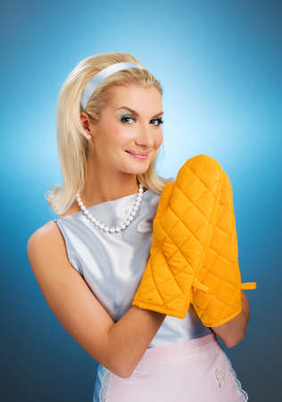 Funny housewife Stock Photo