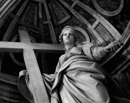dark angel: Statue in St. Peter Basilica (Vatican)