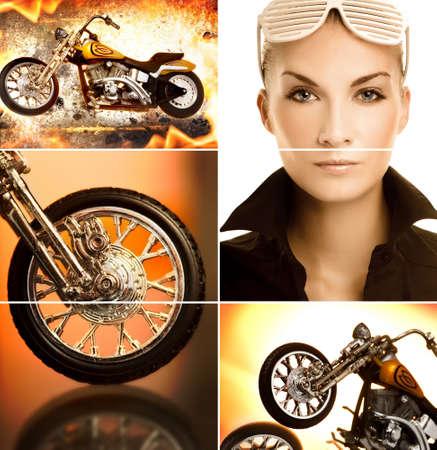 Biker collage photo
