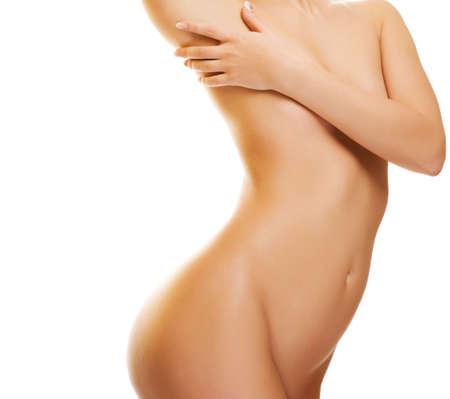 mujer desnuda: Hermoso cuerpo femenino Foto de archivo