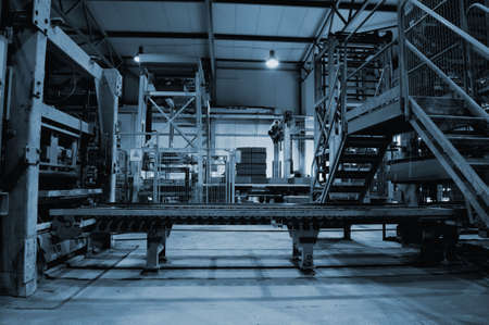 assembly line: Empty factory