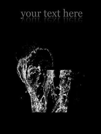 Water logo. Isolated on black background photo