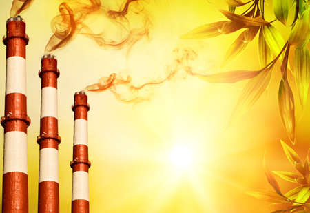 Power plants. Global warming concept  Stock Photo - 5091813