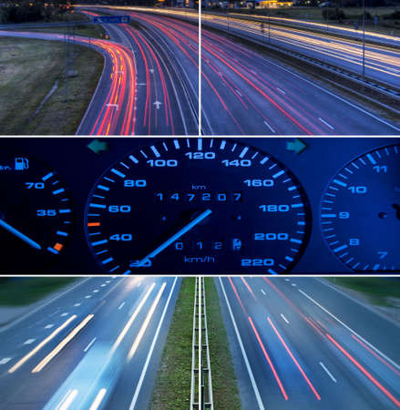 Speed highway collage photo