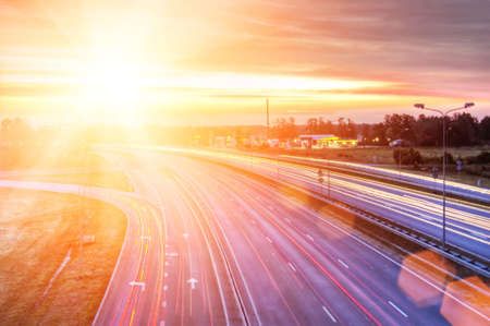 Picture of a highway Stock Photo - 5104108