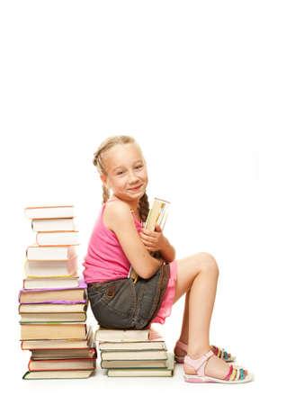 Smiling little schoolgirl photo