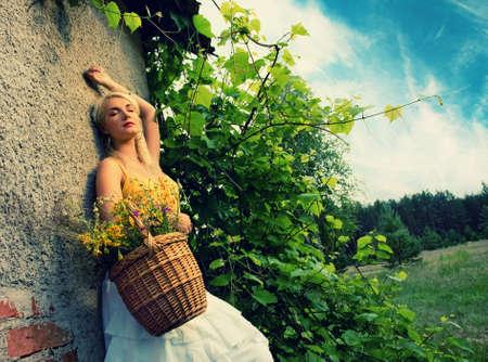 Beautiful woman relaxing outdoor Stock Photo - 5135631