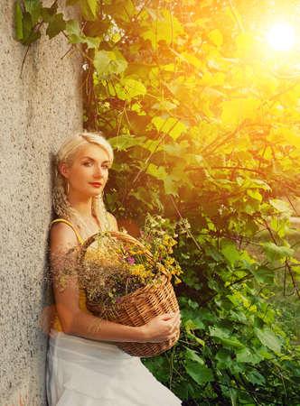 Beautiful woman outdoors photo