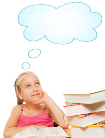 Picture of a dreaming schoolgirl  Stock Photo - 5234494