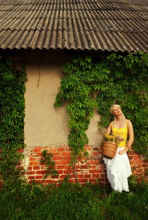 Beautiful woman relaxing outdoor     photo