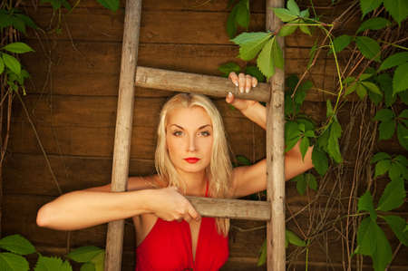 Beautiful woman outdoor     photo