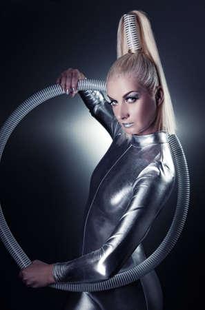 Beautiful cyber woman Stock Photo - 5281703