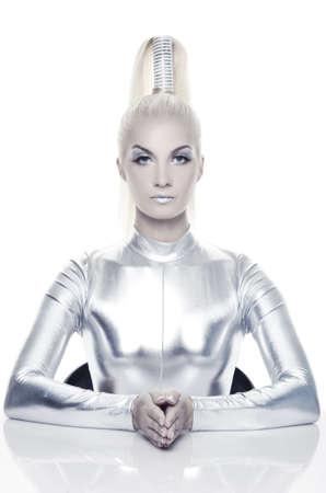 latex: Beautiful cyber woman