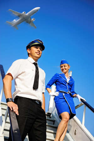 flight crew: Cabin crew couple
