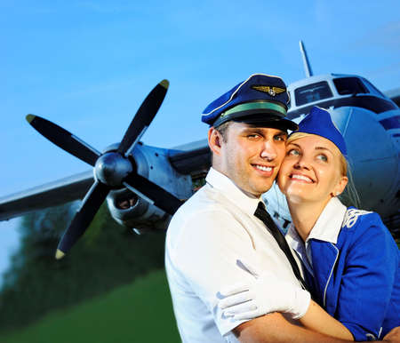 Cabin crew couple photo