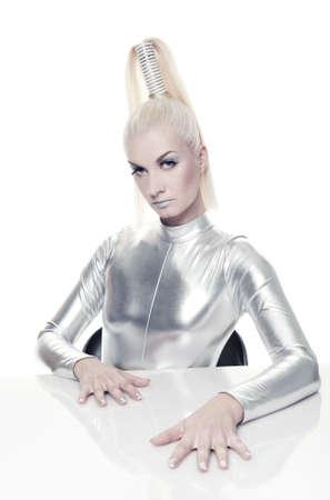 Beautiful cyber woman Stock Photo - 5310238