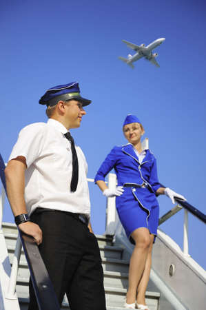 Picture of a cabin crew couple photo