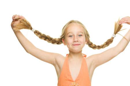 Little funny girl photo