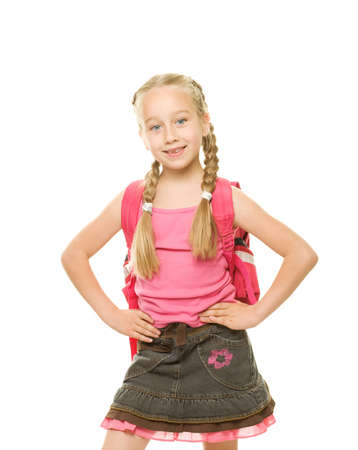 Picture of a funny schoolgirl   Stock Photo - 5505249