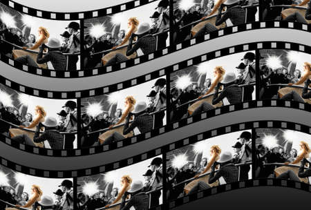 Filmstrip collage photo
