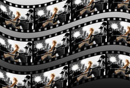 monroe: Filmstrip collage Stock Photo