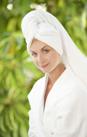 Beautiful young woman after bath Stock Photo - 5510133