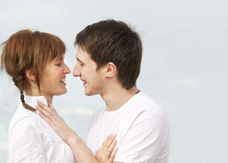 Young couple outdoors      photo