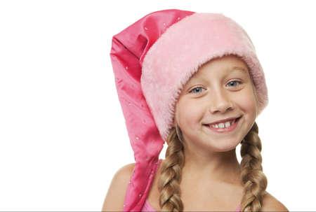 Portrait of a little christmas girl photo