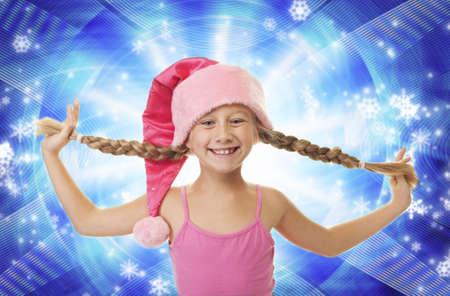 Funny little Christmas girl      photo