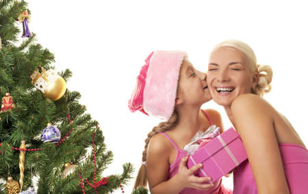 Mother and daughter celebrating christmas Stock Photo - 5618977