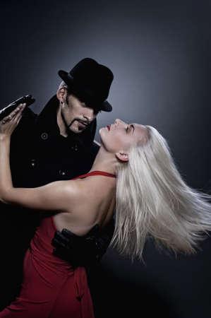 Couple in love dancing tango photo