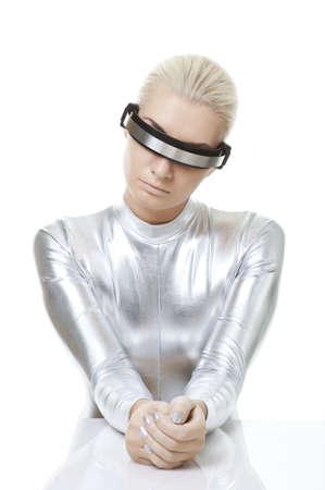 Beautiful cyber woman Stock Photo - 5705108
