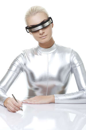 Beautiful cyber woman Stock Photo - 5705103