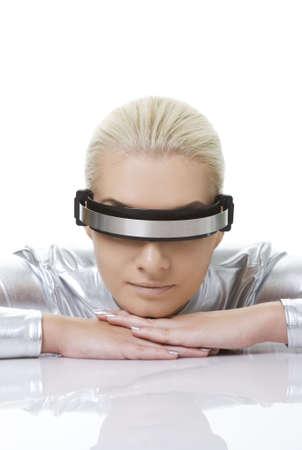 Beautiful cyber woman      photo