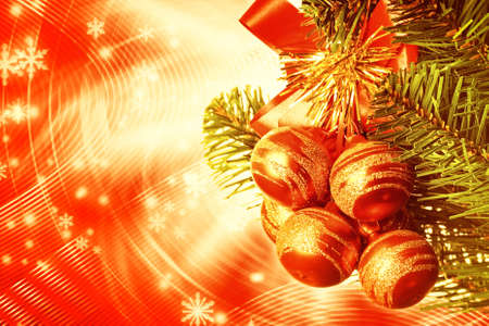 Christmas decoration over abstract background photo