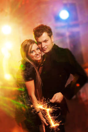 Happy couple in the night club Stock Photo - 5789042