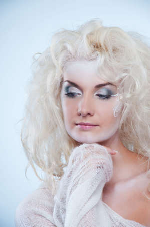 Thinking snow queen Stock Photo - 5813375