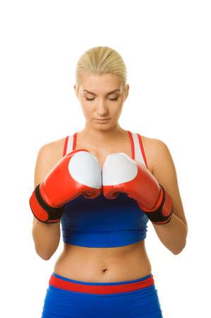 portrait of a boxer girl  photo