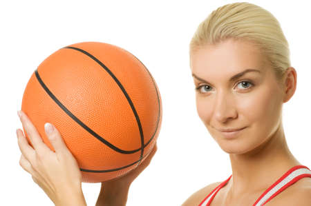 Portrait of a basketball player Stock Photo - 5813366
