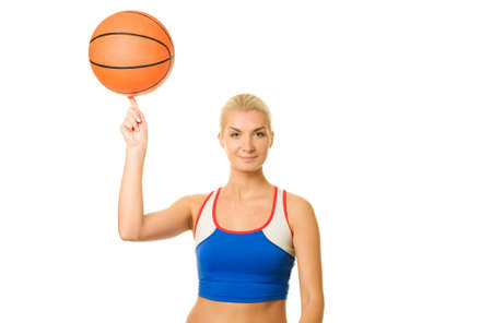 Portrait of a basketball player  photo
