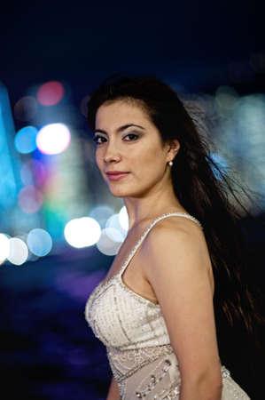Beautiful brunette woman outdoors Stock Photo - 5999221